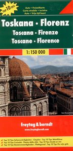 Itálie - Toskánsko, Florencie - mapa Freytag&Berndt - 1:150t /Itálie/