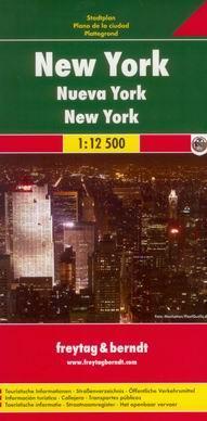 Freytag&Berndt, spol. s.r.o. New York - plán Freytag&Berndt 1:12,5 /Manhattan a okolí/ - skládaná mapa