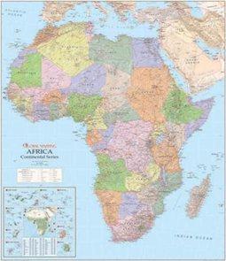 Afrika - politické rozdělení - nástěnná mapa - 1:8 000 000 /GlobalMapping/