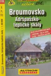 Broumovsko, Adršpach - cyklo SH115 - 1:60