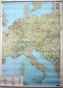 Evropa - střední -FR- nást.mapa - 88*125cm /L/