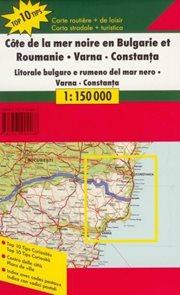 Bulharsko - pobřeží - /Rumunsko -- Varna/ - mapa Freytag&Berndt - 1:150t