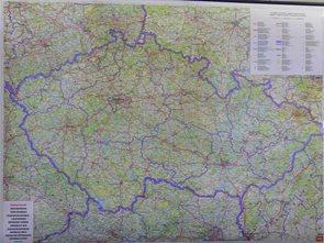 Česká Republika 1:400 000 - nástěnná mapa Freytag & Berndt