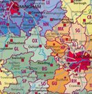 Spediční - Velká Británie - 1:1 200 000 - nástěnná mapa /Stiefel/
