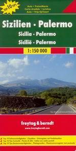 Sicílie - mapa Freytag - 1:150 000 /Itálie/ - Rozkládací mapa