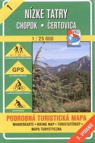 Nízké Tatry - Chopok, Čertovica - mapa VKÚ č.1 - 1:25 000 /Slovensko/