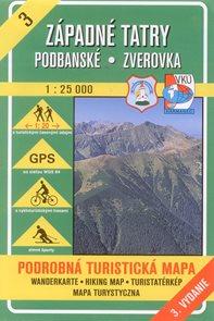 Západní Tatry, Podbanské, Zverovka - mapa VKÚ č.3 - 1:25 000 /Slovensko/