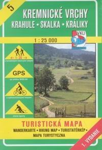 Kremnické vrchy, Krahule, Skalka, Králiky - mapa VKÚ č.5 - 1:25 000 /Slovensko/