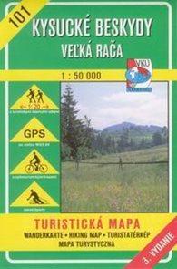 Kysucké Beskydy, Velká Rača -  mapa VKÚ č.101 - 1:50 000 /Slovensko/