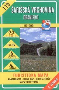 Šarišská vrchovina, Branisko - mapa VKÚ č.115 - 1:50 000 /Slovensko/