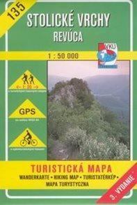 Stolické vrchy, Revúca - mapa VKÚ č.135 - 1:50 000 /Slovensko/