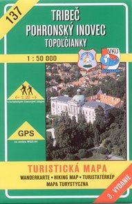 Tribeč, Pohronský Inovec - mapa VKÚ č.137 - 1:50 000 /Slovensko/