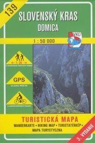 Slovenský kras, Domica - mapa VKÚ č. 139 - 1:50 000 /Slovensko/