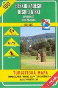 Beskid Sadecki, Beskid Niski - západní část - mapa VKÚ č.160 - 1:50 000 /Slovensko,Polsko/