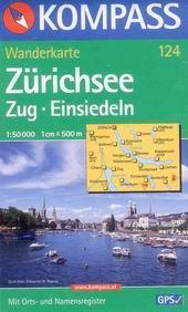 Zürichsee, Zug, Einsiedeln - mapa Kompass č.124 - 1:50t /Švýcarsko/