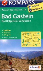Badgastein, Bad Hofgastein, Dorfgastein - mapa Kompass č.040 - 1:35 000 /Rakousko/
