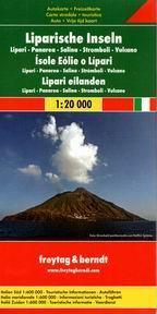 Itálie - Liparské ostrovy - mapa Freytag - 1:20 000