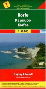 Řecko - Korfu - mapa Freytag - 1:50 000