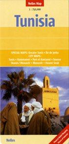 Tunisko - mapa Nelles 1:750 000