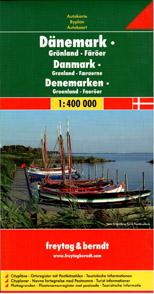 Dánsko, Grónsko, Faerské ostrovy - mapa Freytag - 1:400 000