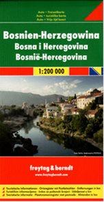 Bosna, Hercegovina - mapa 1:200 000