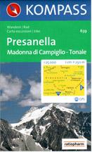 Presanella, Madonna di Campiglio, Tonale - mapa Kompass č.639 - 1:25t /Itálie/