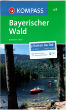 Bayerischer Wald /Bavorský les/ - komplet 3 map - Kompass č.198 - 1:50 000 /Německo,Rakousko/