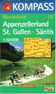Appenzellerland, St. Gallen, Säntis - mapa Kompass č.112 - 1:50t /Švýcarsko/