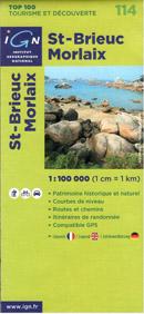 Francie - St.Brieuc, Morlaix - mapa IGN č.114 - 1:100 000