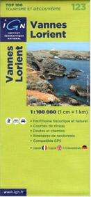 Francie - Vannes, Lorient - mapa IGN č.123 - 1:100 000