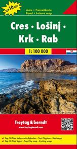 Chorvatsko - Kvarner (Cres, Lošinj, Krk, Rab) - mapa 1:100 000