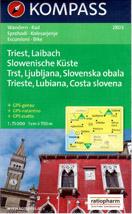 Slovinsko - Ljublaň a okolí, pobřeží, Trieste - mapa Kompass č.2803 - 1:75 000