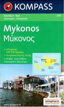 Řecko - Mykonos - mapa Kompass č.249 - 1:35 000