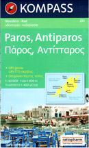 Řecko - Paros, Antiparos - mapa Kompass č.251 - 1:40 000