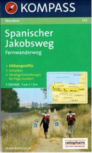 Španělsko - Svatojakubská cesta - mapa Kompass č.133 - 1:100 000
