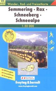 Semmering, Rax, Schneeberg - mapa WK022 - 1:50 000 /Rakousko/