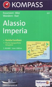 Alasio, Imperia - mapa Kompass č.641 - 1:50 000 /Itálie/