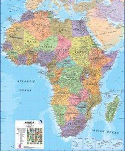 Afrika - politické rozdělení - nástěnná mapa - 1:8 000 000 /MapsInt-TerraNova/