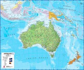 Austrálie -TerraNova - nástěnná mapa - 1:7 000 000