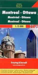 Montréal, Ottawa - plán Freytag - 1:15 000 /Kanada/