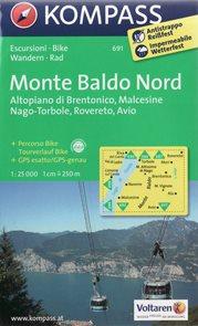 Monte Baldo - sever - mapa Kompass č.691 - 1:25 000 /Itálie/