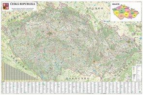 Česká republika - 1:250 000 - nástěnná mapa
