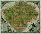 Historické Království České - r.1883 - nástěnná mapa