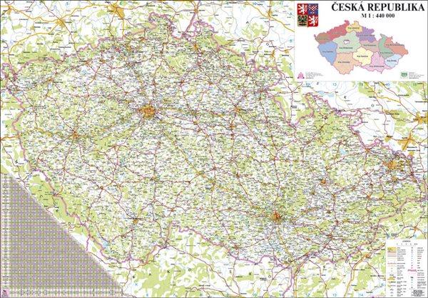 Česká republika - 1:440 000 - nástěnná mapa - 113x81cm