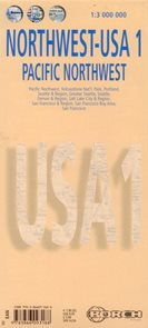 USA -1- severozápad - mapa Borch - 1:3 000 000