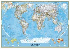 Svět -obří- politické rozdělení -Classic- 1:24 031 000 - nástěnná mapa /National Geographic/