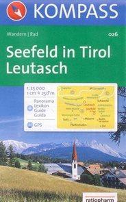 Seefeld in Tirol, Leutasch - mapa Kompass č.026 - 1:25 000 /Rakousko,Německo/