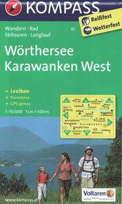 Wrthersee, Klagenfurt - mapa Kompass č. 061 - 1:25 t /Rakousko/