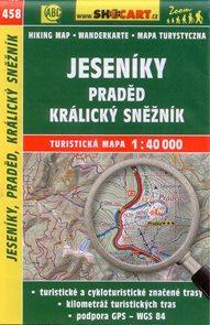 Jeseníky, Praděd, Králický Sněžník - mapa SHOCart č.458 - 1:40 000