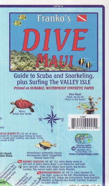 Maui Dive Franko´s map - 18x11